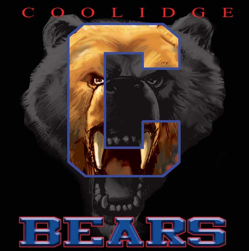 bears high school letter and mascot tee - 9, 57 Tee