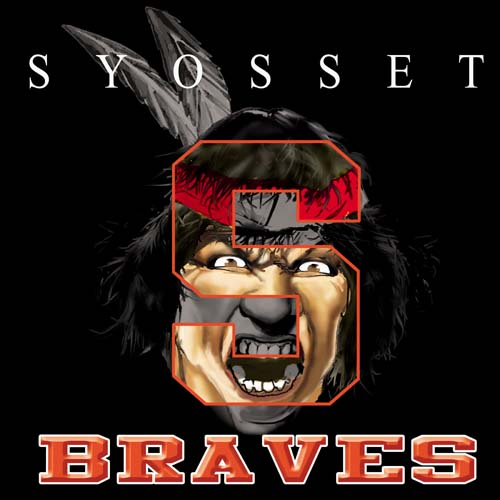 braves high school letter and mascot tee - 9, 57 Tee