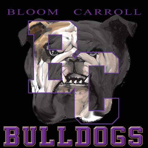 bulldogs high school letter and mascot tee - 9, 57 Tee