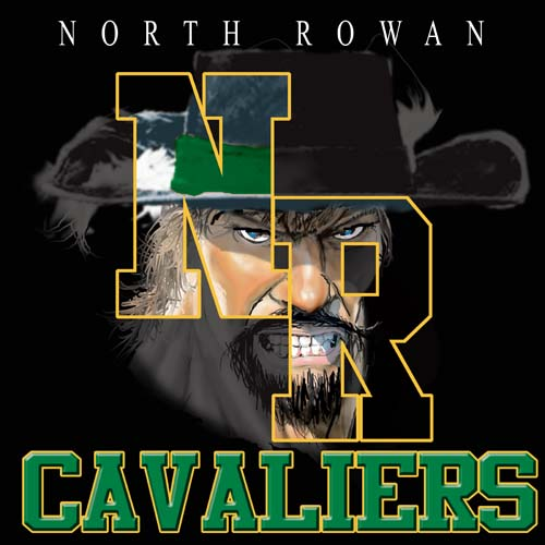 cavaliers high school letter and mascot tee - 9, 57 Tee