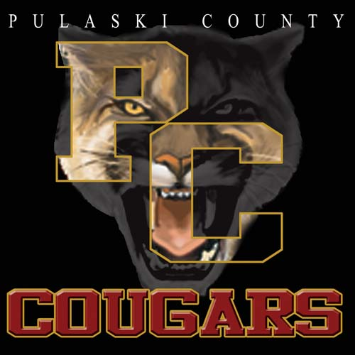 cougars high school letter and mascot tee - 9, 57 Tee