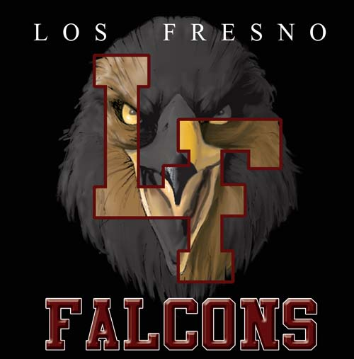 falcons high school letter and mascot tee - 9, 57 Tee