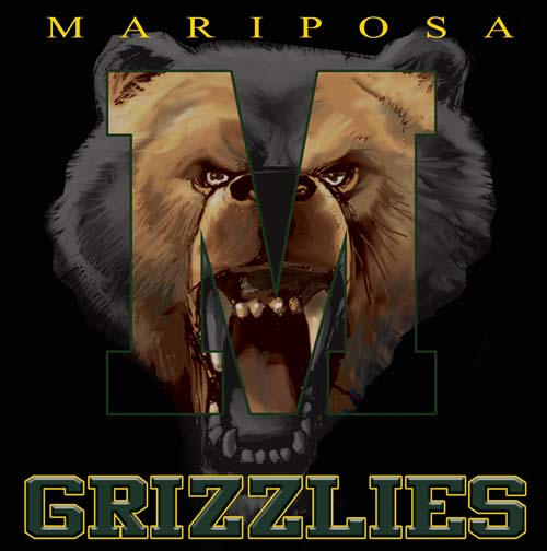 grizzlies high school letter and mascot tee - 9, 57 Tee