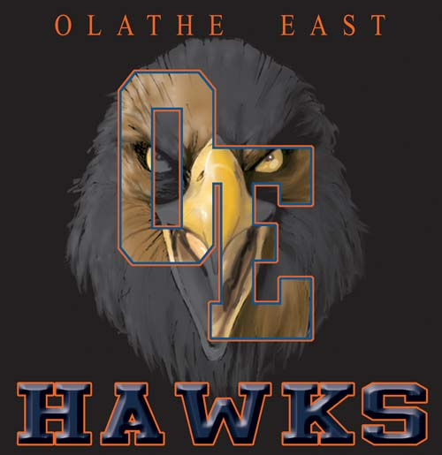hawks high school letter and mascot tee - 9, 57 Tee