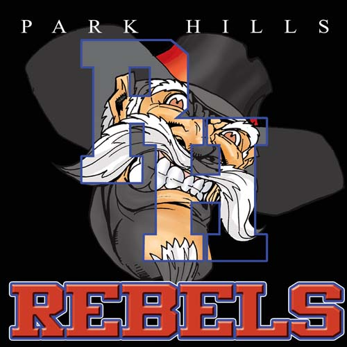 rebels high school letter and mascot tee - 16, 19 Tee