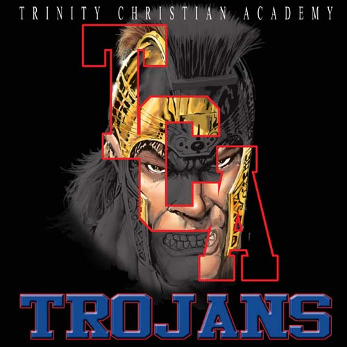 trojans high school letter and mascot tee - 16, 19 Tee