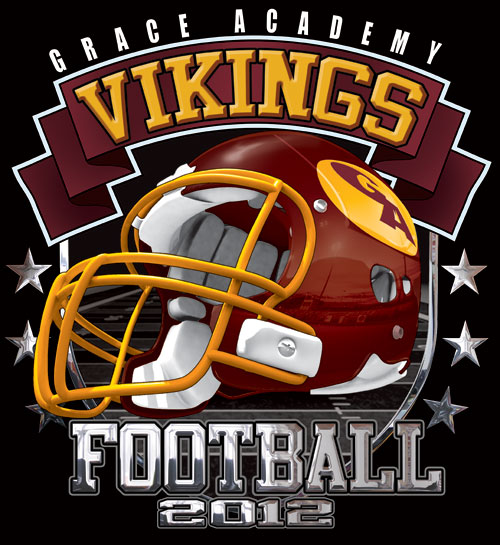 vikings football helmet and spirit t-shirt - 6, 39 Tee