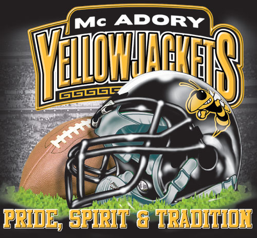 yellowjackets football helmet and spirit t-shirt - 6, 39 Tee
