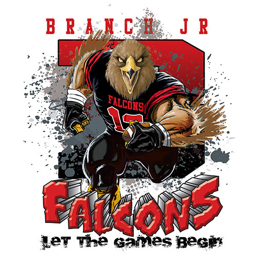 falcons Game Time T-shirt - 6, 27 Tee