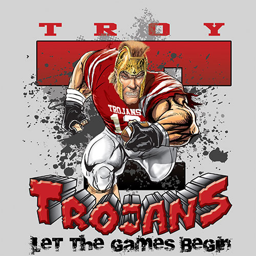 trojans Game Time T-shirt - 6, 27 Tee