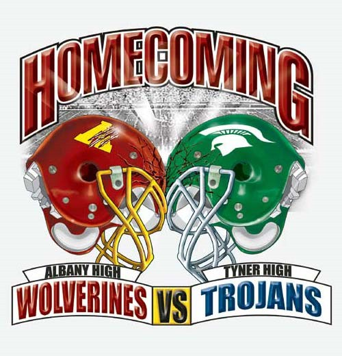 football rival homecoming team or school tee 6 37 tee - Homecoming T Shirt Design Ideas