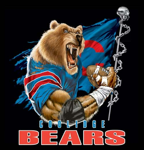 bears football flag tee - 6, 36 Tee
