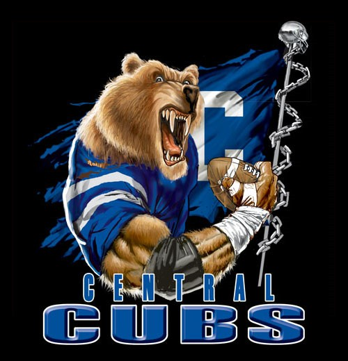 cubs football flag tee - 6, 36 Tee