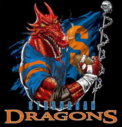 dragons football flag tee - 6, 36 Tee