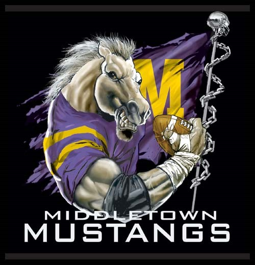 mustangs football flag tee - 6, 36 Tee