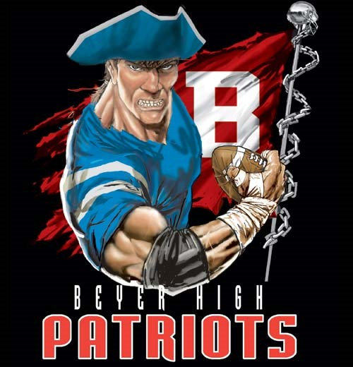 patriots football flag tee - 6, 36 Tee