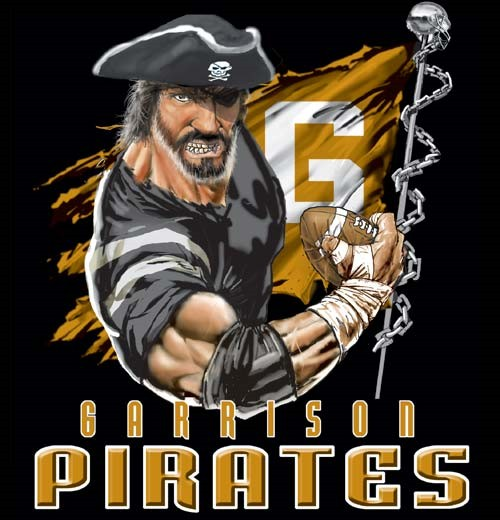 pirates football flag tee - 6, 36 Tee