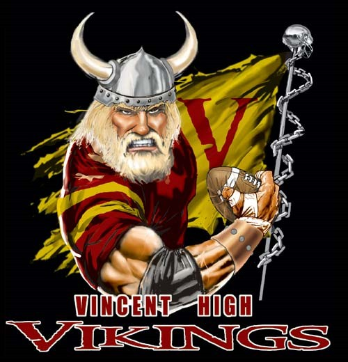 vikings football flag tee - 6, 36 Tee