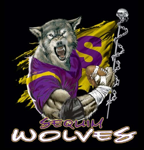 wolves football flag tee - 6, 36 Tee