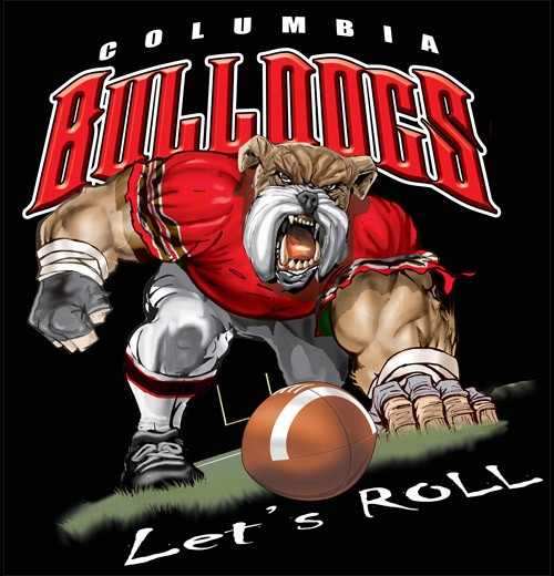 bulldogs football tee - 6, 34 Tee