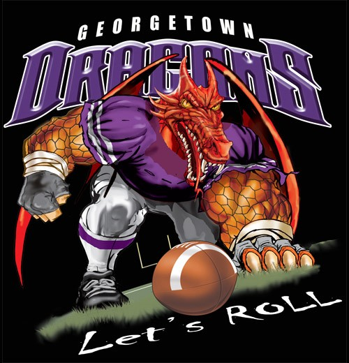 dragons football tee - 6, 34 Tee