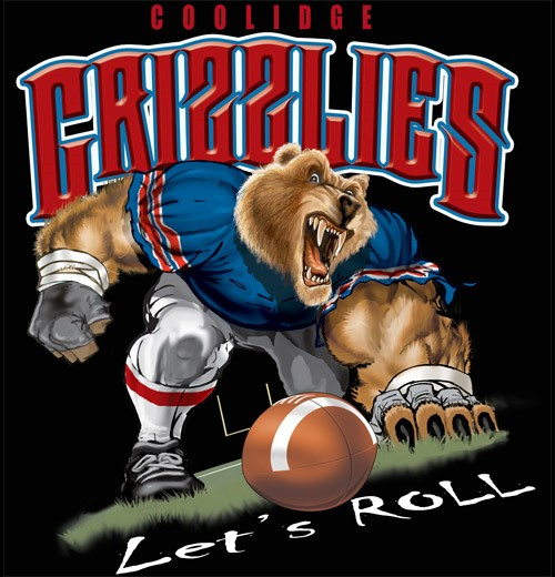 grizzlies football tee - 6, 34 Tee