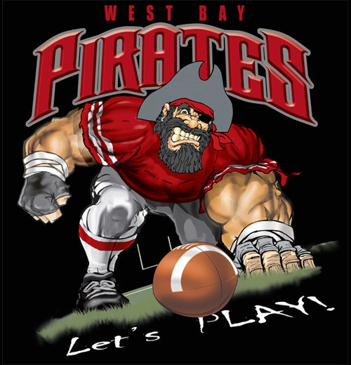 pirates football tee - 6, 34 Tee