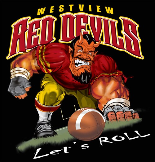 red devils football tee - 6, 34 Tee