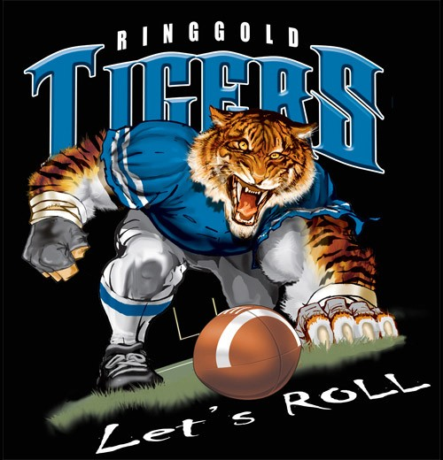 Tigers Football Tee Color Creek Chattanooga TN