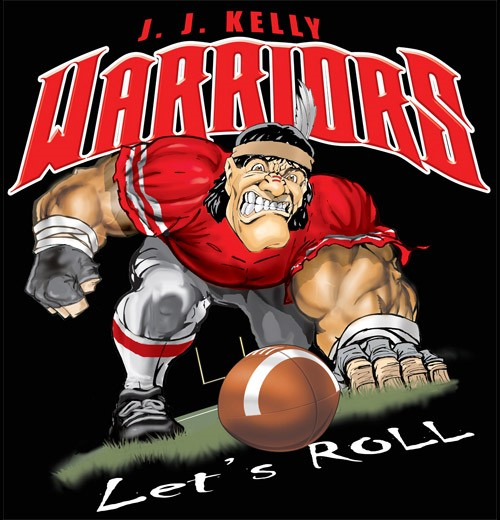warriors football tee - 6, 34 Tee