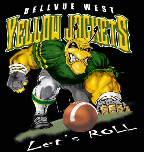 yellowjackets yellowjackets football tee - 6, 34 Tee