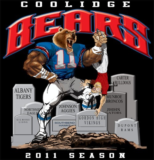 bears football rival tee - 6, 31 Tee