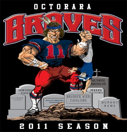braves football rival tee - 6, 31 Tee