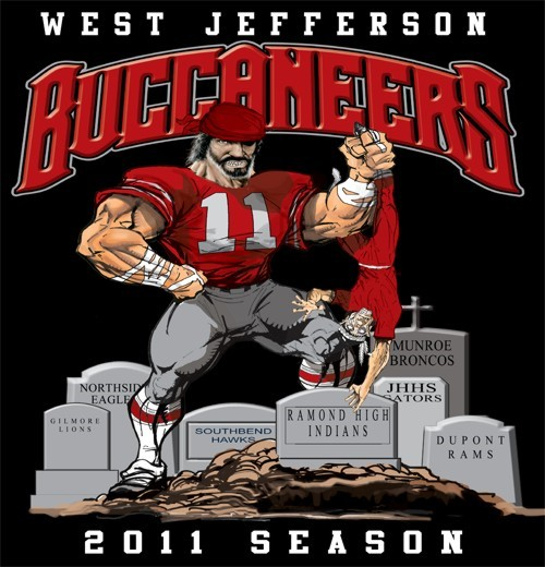 buccaneers football rival tee - 6, 31 Tee