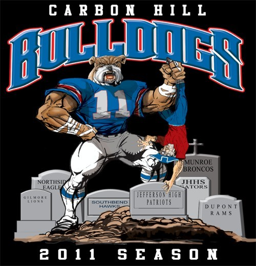 bulldogs football rival tee - 6, 31 Tee
