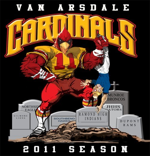 cardinals football rival tee - 6, 31 Tee