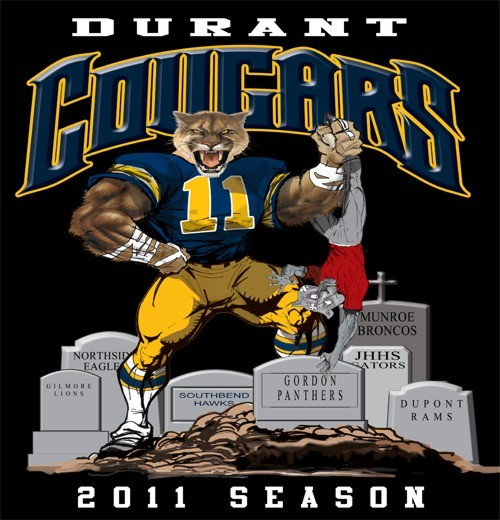 cougars football rival tee - 6, 31 Tee
