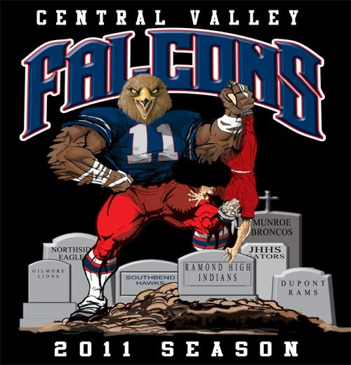 falcons football rival tee - 6, 31 Tee