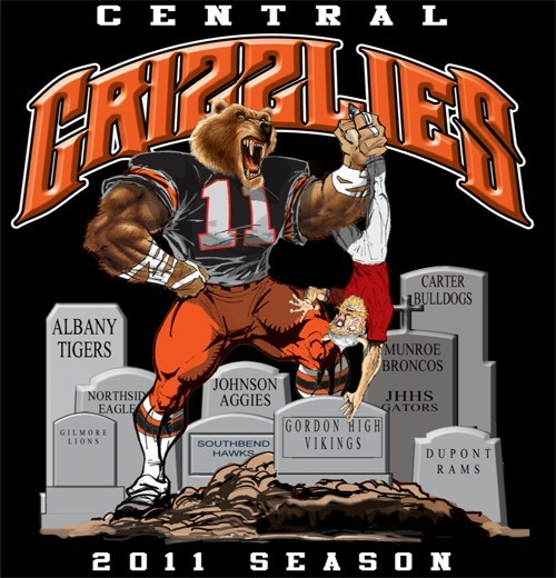 grizzlies football rival tee - 6, 31 Tee