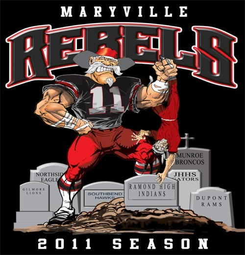 rebels football rival tee - 6, 31 Tee