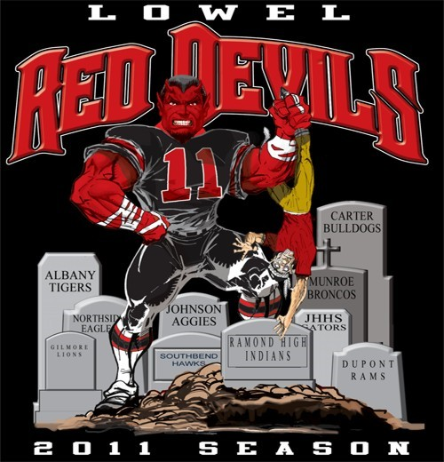 red devils football rival tee - 6, 31 Tee