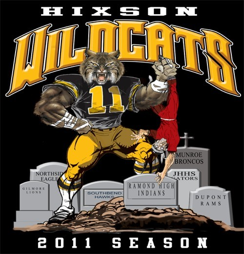 wildcats football rival tee - 6, 31 Tee