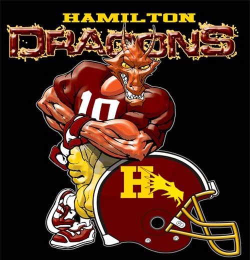 dragons football helmet tee - 6, 30 Tee