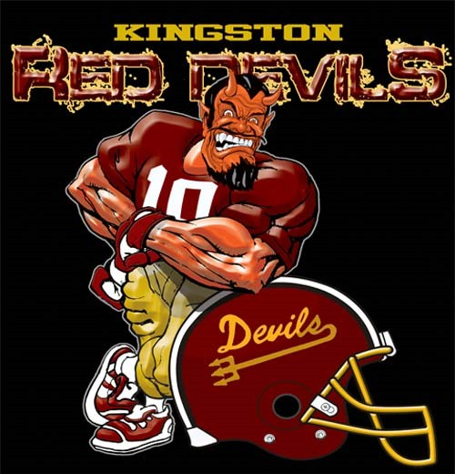 red devils football helmet tee - 6, 30 Tee