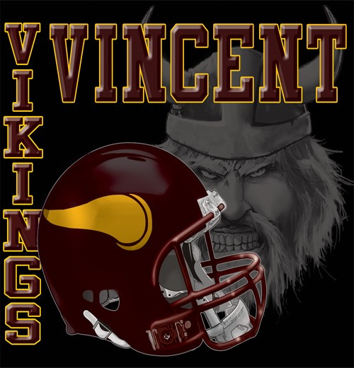 vikings football tee - 6, 32 Tee