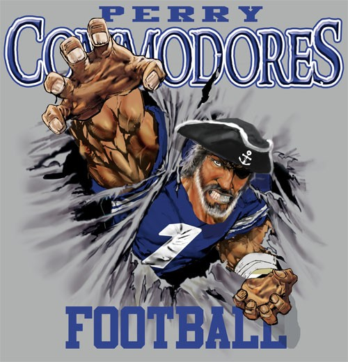 commodores football tee - 6, 35 Tee
