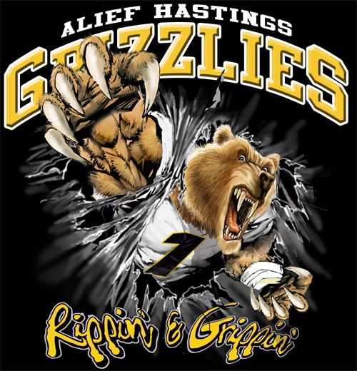 grizzlies football tee - 6, 35 Tee