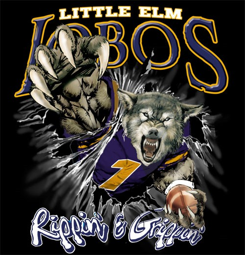 lobos football tee - 6, 35 Tee