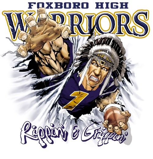 warriors football tee - 6, 35 Tee