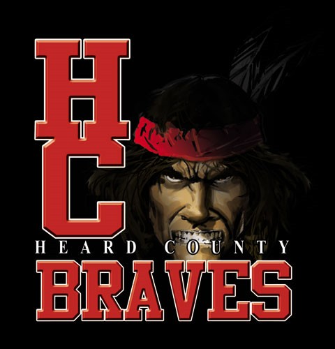 braves team or school spirit tee - 9, 19 Tee